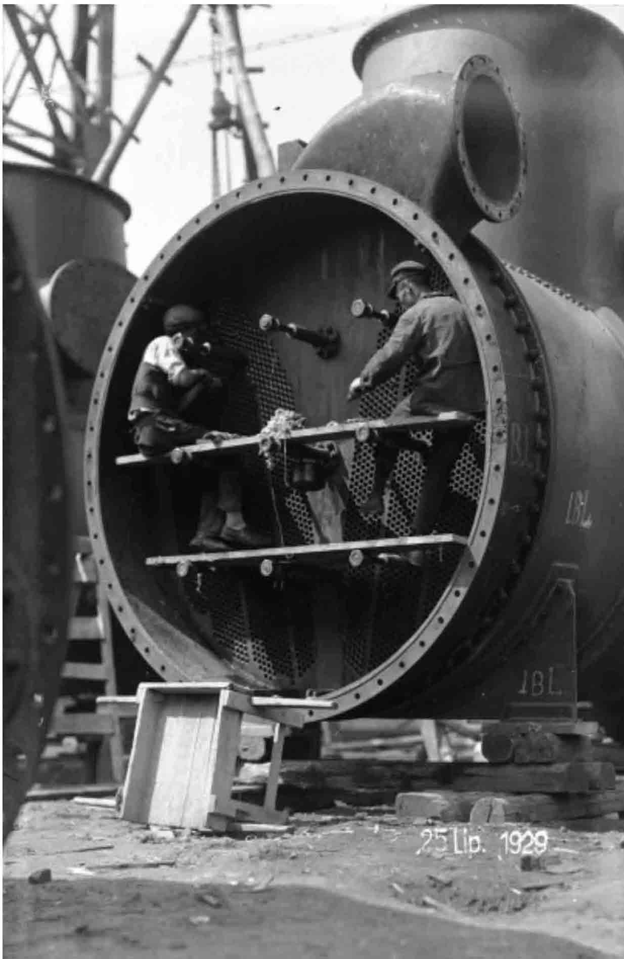 Pracownicy podczas pracy, Łódź 25 lipca 1929